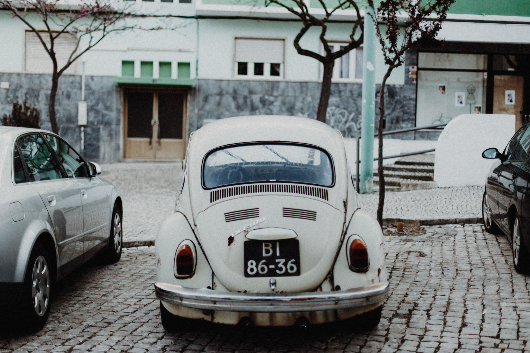 old style bug car in cacilhas in portugal