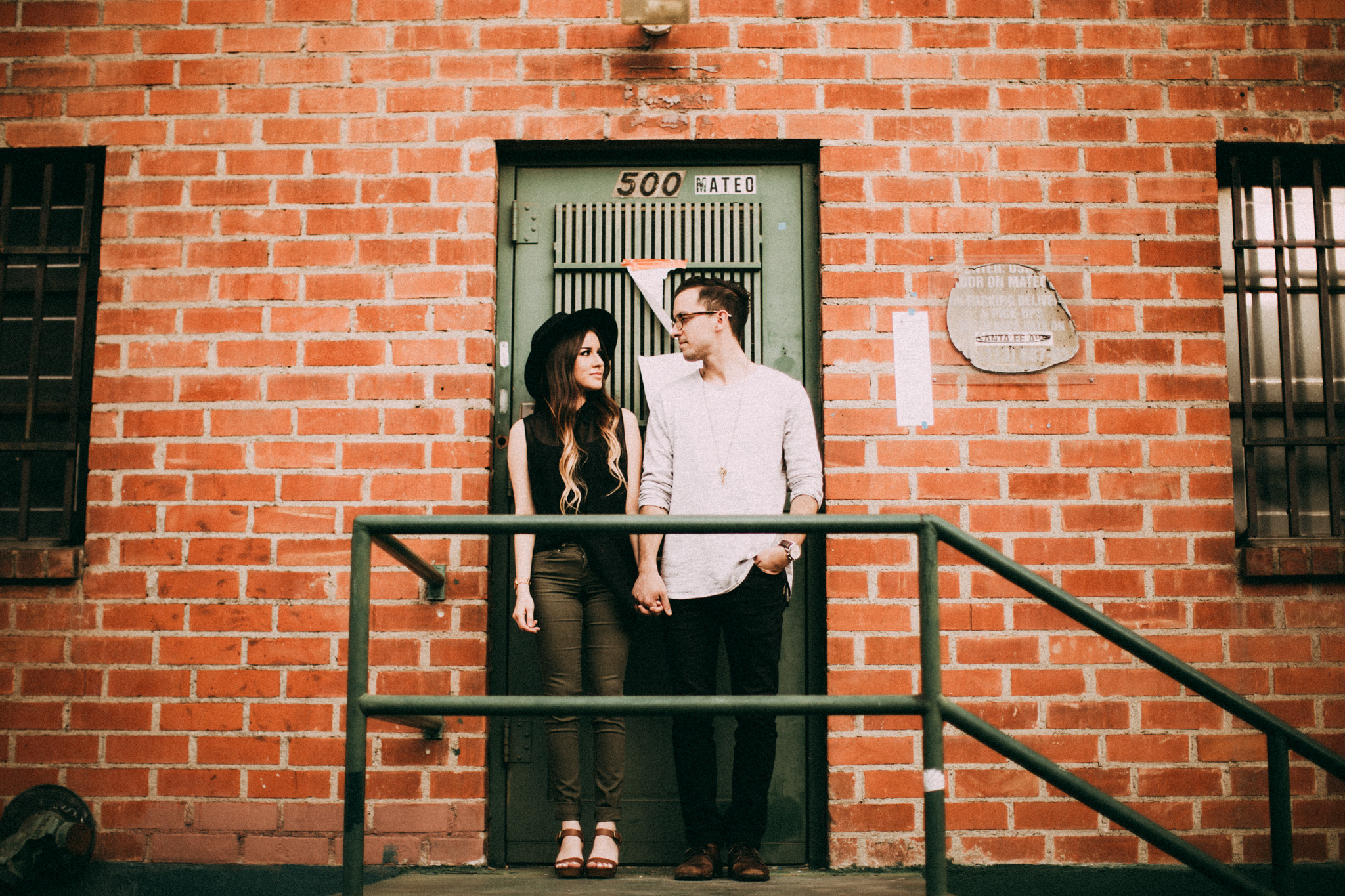 arts district engagement photos los angeles