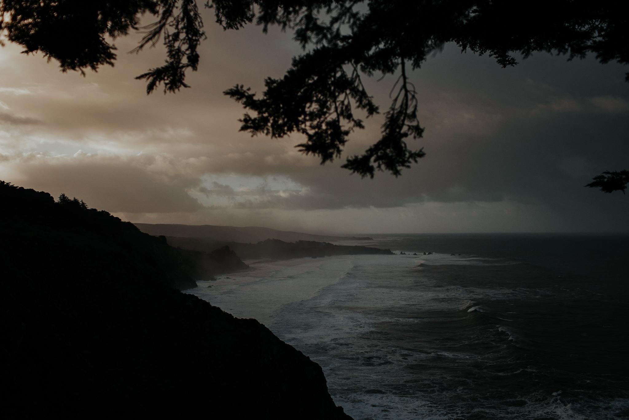 ragged point at sun rise dawn big sur coast california